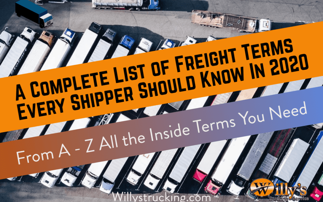 Freight Terms Every Shipper Should Know