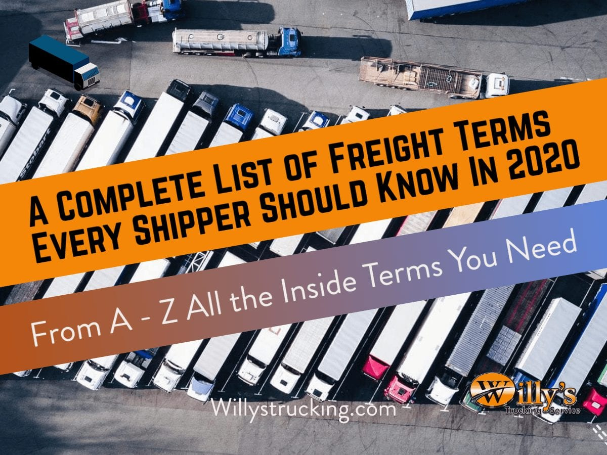 List of freight Terms
